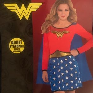 Wonder Woman costume (one piece) w/ attached cape